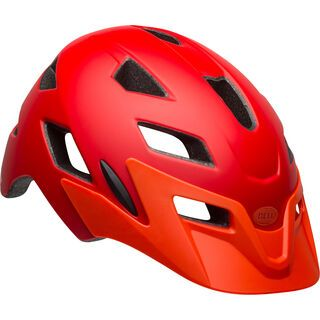 Bell Sidetrack Youth, red/orange - Fahrradhelm