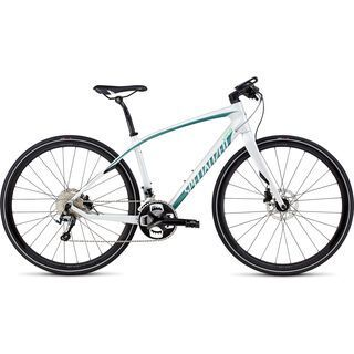 Specialized Vita Comp Carbon Disc 2016, white/turquoise - Fitnessbike