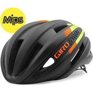 Giro Synthe MIPS, black lime flame - Fahrradhelm