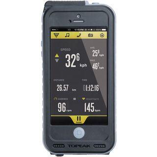 Topeak Weatherproof RideCase + PowerPack/Halter iPhone 5, black/gray - Schutzhülle