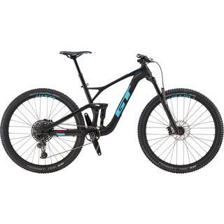 GT Sensor Carbon Elite 2019, raw w/ aqua & red - Mountainbike