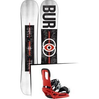Set: Burton Process Flying V Wide 2019 + Burton Cartel EST red