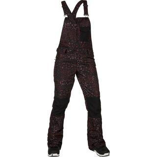 Volcom Swift BIB Overall, black floral print - Snowboardhose