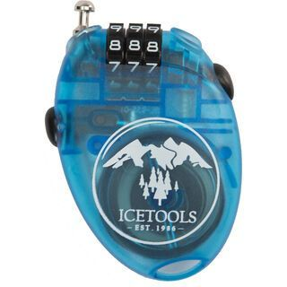 Icetools Mrs. Lock, clear blue - Kabelschloss