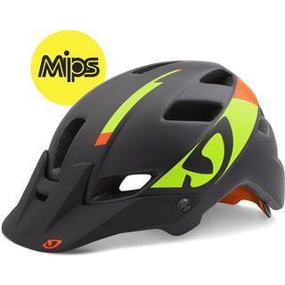 Giro Feature MIPS, black lime flame - Fahrradhelm