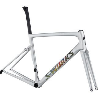 Specialized S-Works Tarmac Frameset 2018, silver/multicolor