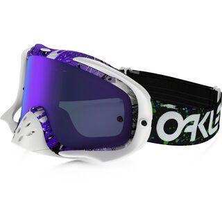 Oakley Crowbar MX inkl. Wechselscheibe, factory pilot splatter green/purple/Lens: violet iridium - MX Brille