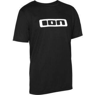 ION Tee SS Logo DR, black - Radtrikot