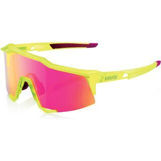 100% Speedcraft, acidulous/Lens: purple ml mirror - Sportbrille
