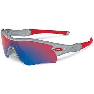 Oakley Radar Path, Polished Fog/Positive Red Iridium - Sportbrille
