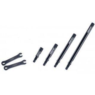 Zipp Ventilverlängerungskit Knurled - 3 Stück, schwarz