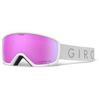 Giro Ringo, white core light/Lens: vivid pink - Skibrille