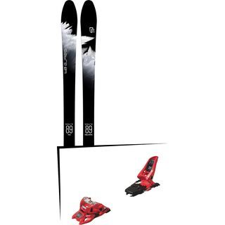 Set: Icelantic Sabre 89 2018 + Marker Squire 11 ID red
