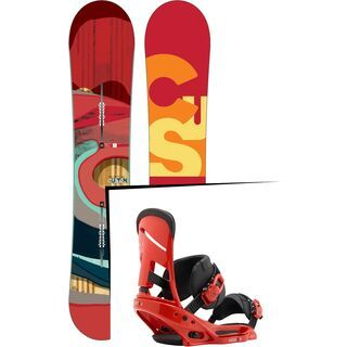 Set: Burton Custom Flying V 2016 + Burton Mission EST 2017, el rojo - Snowboardset