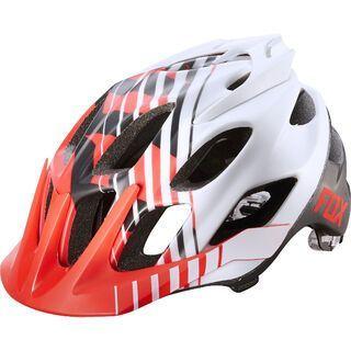Fox Flux Helmet, savant red/white - Fahrradhelm