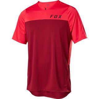 Fox Flexair Zip SS Jersey, chili - Radtrikot