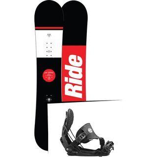 Set: Ride Agenda 2017 + Flow Five Hybrid 2016, black - Snowboardset