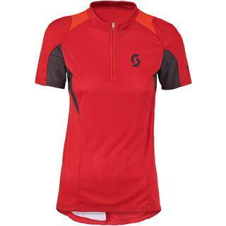 Scott Womens Sky 10 s/sl Shirt, red/orange - Radtrikot