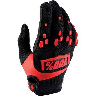 100% Airmatic Youth Glove, black/red - Fahrradhandschuhe