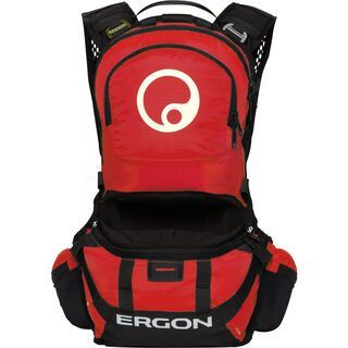 Ergon BE2 Enduro, black/red - Fahrradrucksack
