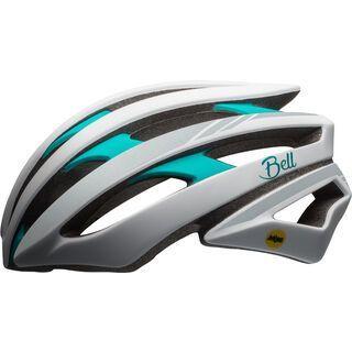 Bell Stratus Joy Ride MIPS, white/emerald reflective - Fahrradhelm
