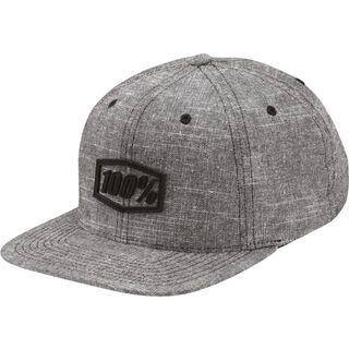 100% Rassmussen Snapback, grey - Cap