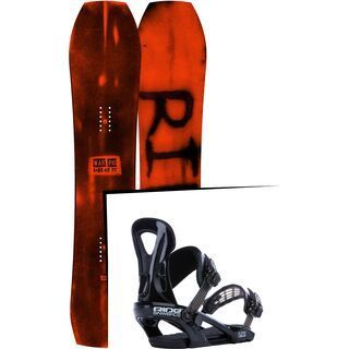 Set: Ride Warpig Large 2017 + Ride LX 2015, black - Snowboardset