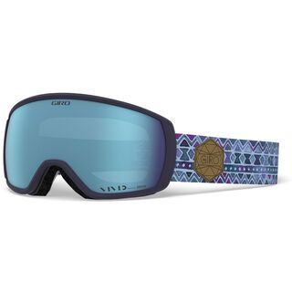 Giro Facet, blue tile/Lens: vivid royal - Skibrille
