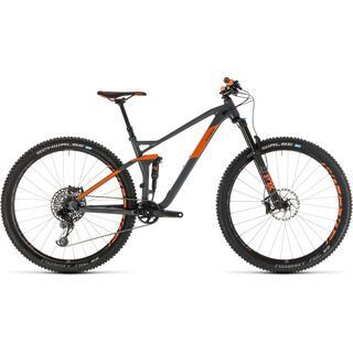 Cube Stereo 120 TM 29 2019, grey´n´orange - Mountainbike