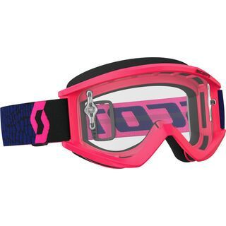 Scott Goggle Recoil Xi, blue/fluo pink/Lens: clear - MX Brille
