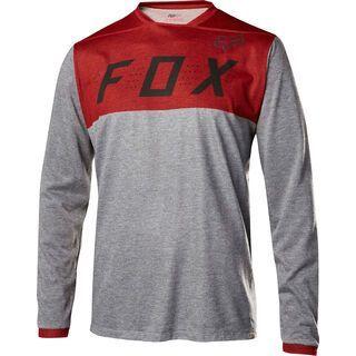Fox Indicator LS Jersey, heather red - Radtrikot