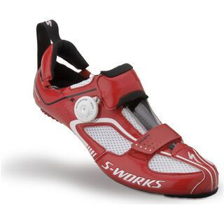 Specialized S-Works Trivent, White/Red - Radschuhe