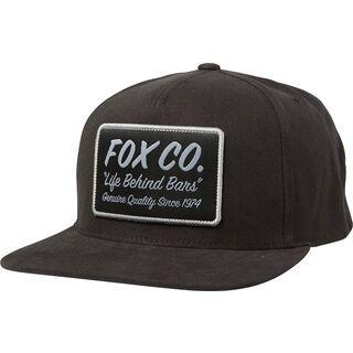 Fox Resin Snapback Hat, black - Cap