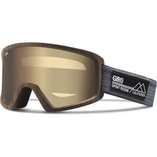 Giro Blok, woodgrain/amber gold - Skibrille
