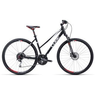 Cube Nature Trapeze 2015, black white red - Fitnessbike