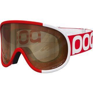 POC Retina Big Comp inkl. Wechselscheibe, bohrium red/Lens: brown, clear - Skibrille