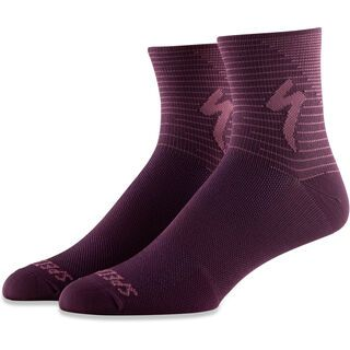 Specialized Soft Air Road Mid Sock, berry/lilac arrow - Radsocken