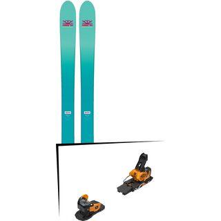 Set: DPS Skis Nina F99 Foundation 2018 + Salomon Warden MNC 13 saffron/black