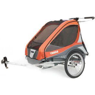 Thule Chariot Captain 2 inkl. Fahrrad-Set, apricot - Fahrradanhänger