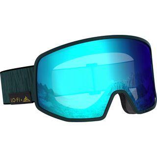 Salomon Lo Fi, green gables/Lens: ml mid blue - Skibrille