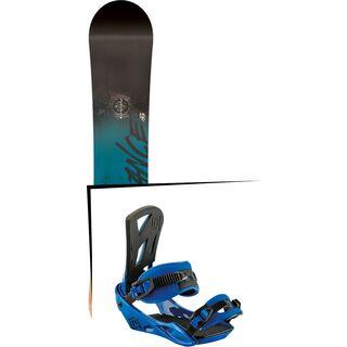 Set: Nitro Stance Wide 2017 + Nitro Staxx 2017, bright blue - Snowboardset