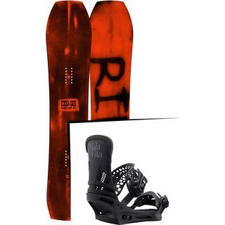 Set: Ride Warpig Large 2017 + Burton Malavita 2017, black - Snowboardset