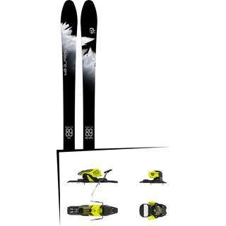 Set: Icelantic Sabre 89 2018 + Salomon Warden 11 yellow/black