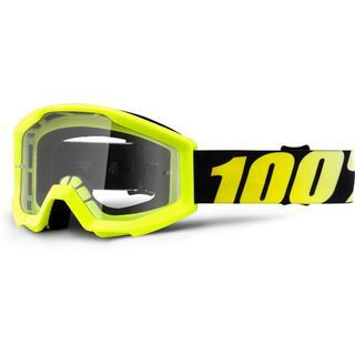 100% Strata Youth, neon yellow/Lens: clear - MX Brille