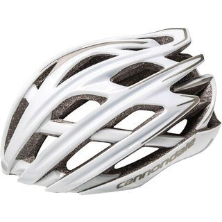Cannondale Cypher, gloss white/silver - Fahrradhelm
