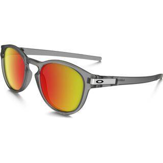 Oakley Latch, matte grey ink/Lens: ruby iridium - Sonnenbrille