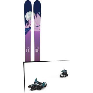 Set: Icelantic Oracle 100 2018 + Marker Alpinist 9 black/turquoise