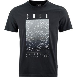 Cube T-Shirt Fichtelmountains, black