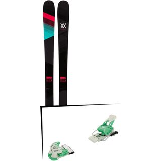 Set: Völkl Kenja 2017 + Tyrolia Attack 12 110 mm, solid white mint - Skiset