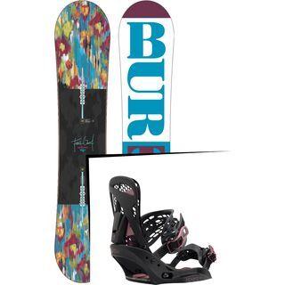 Set: Burton Feelgood Flying V 2016 + Burton Escapade EST 2017, black - Snowboardset